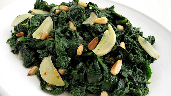 garlic and spinach