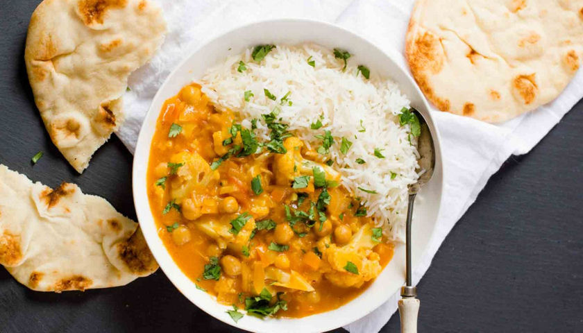 Chick'n and Cauliflower Curry