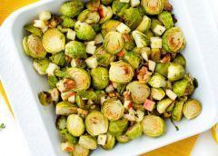 Recipe: Roasted Brussels Sprouts with Apples